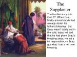 the supplanter