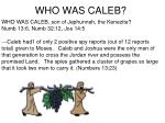 who was caleb