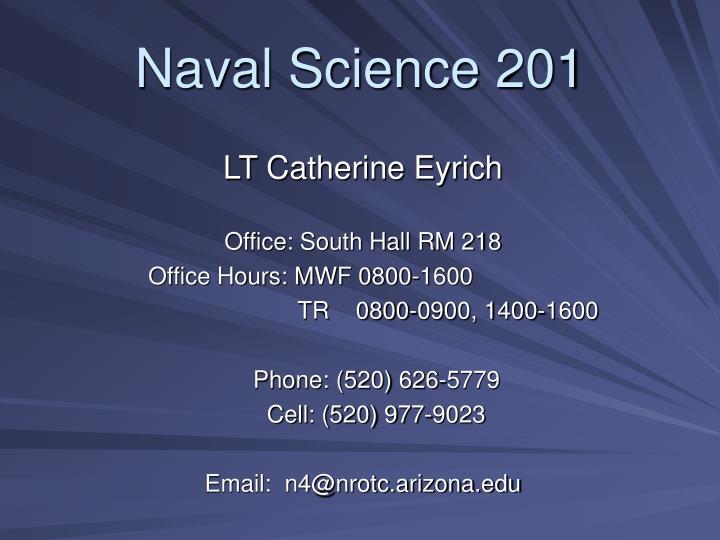 Naval Science 201