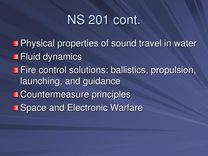 NS 201 cont.