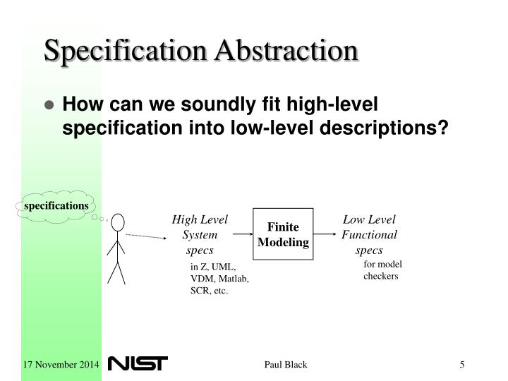 Specification Abstraction