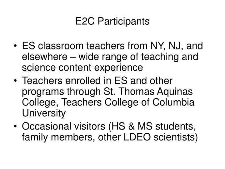 E2C Participants