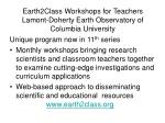 earth2class workshops for teachers lamont doherty earth observatory of columbia university