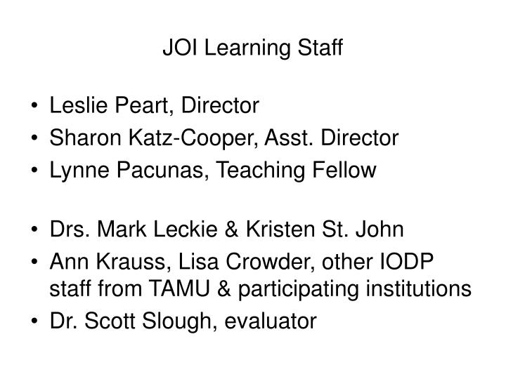 JOI Learning Staff
