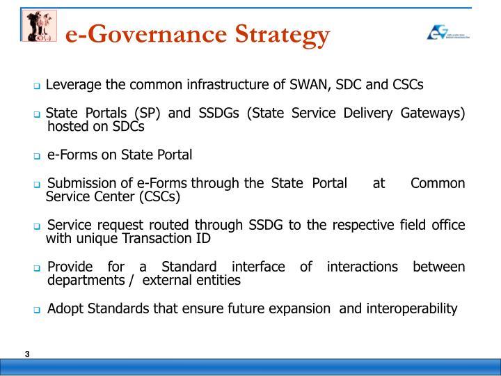 e-Governance Strategy