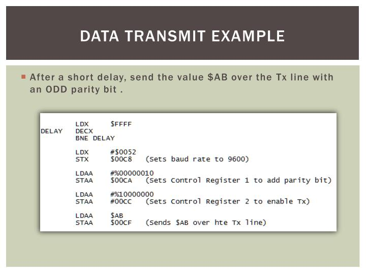 Data Transmit Example