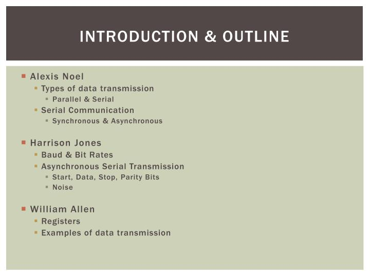 Introduction & Outline
