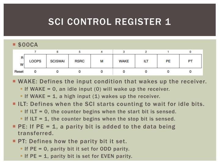 SCI Control Register 1