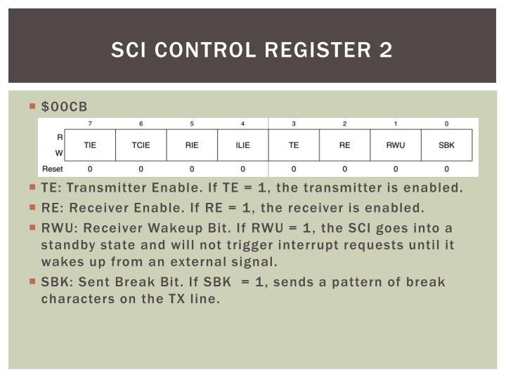 SCI Control Register 2