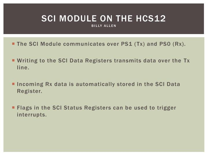 SCI module on the HCS12