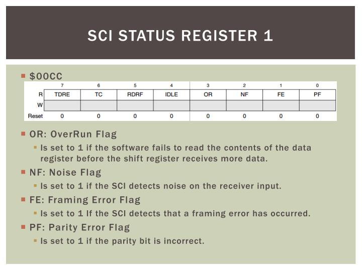 SCI Status Register 1