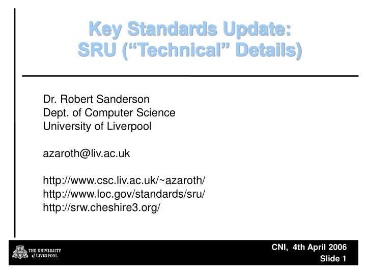 Key Standards Update:
