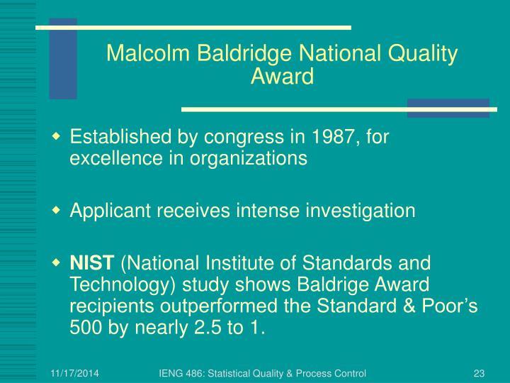 Malcolm Baldridge National Quality Award