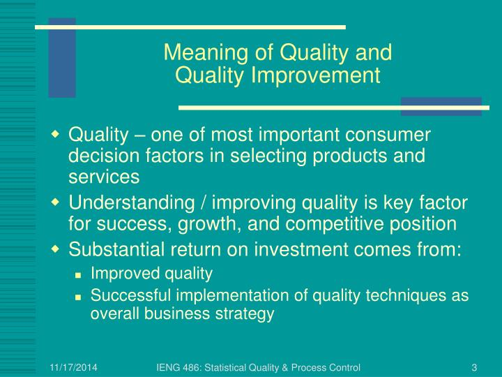 Meaning of Quality and