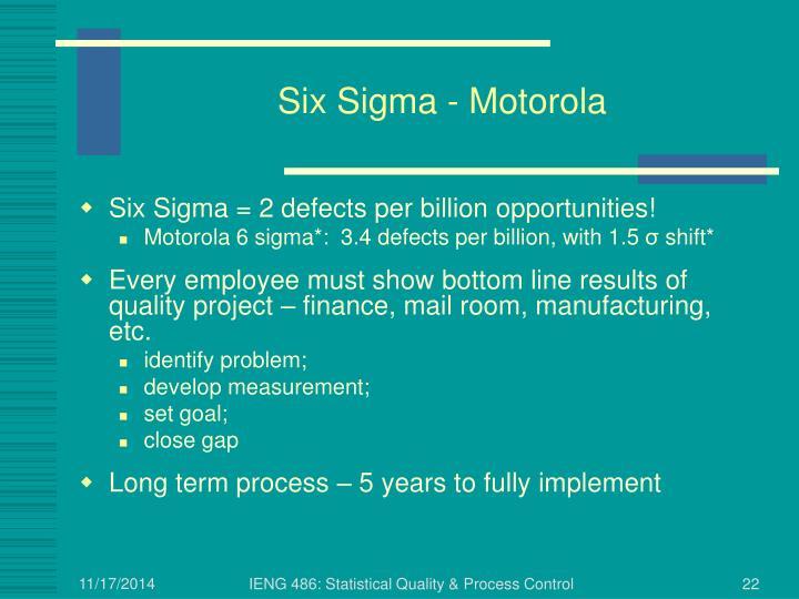 Six Sigma - Motorola