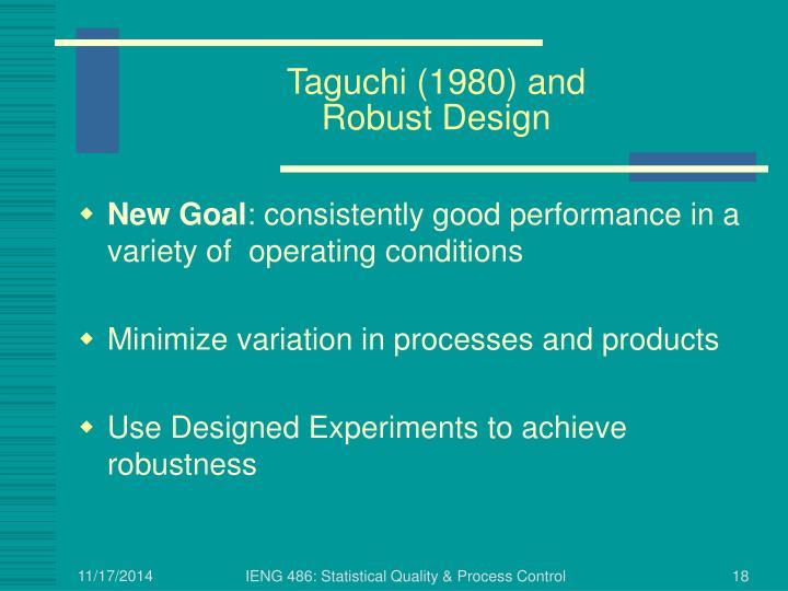 Taguchi (1980) and