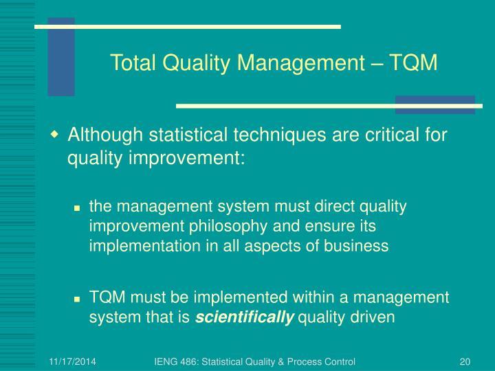 Total Quality Management – TQM