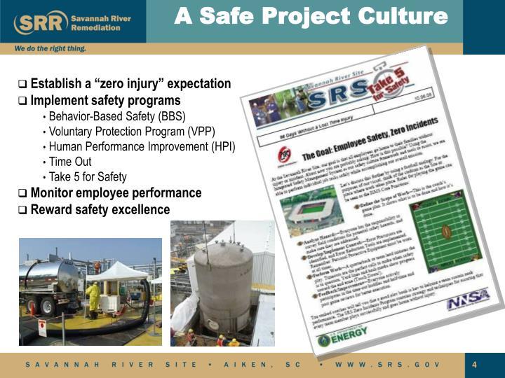 A Safe Project Culture