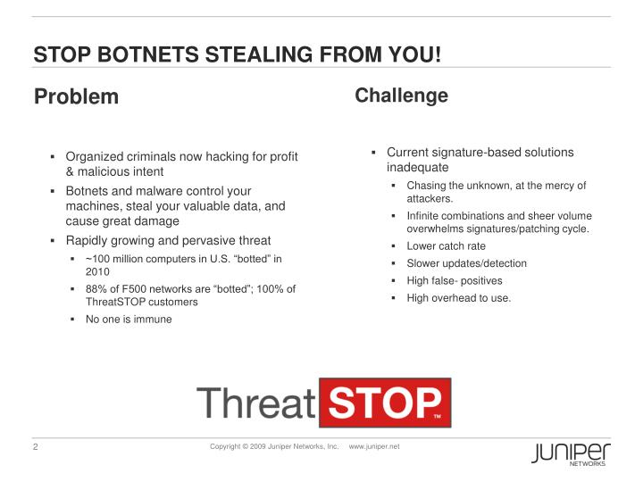 Stop botnets stealing from you