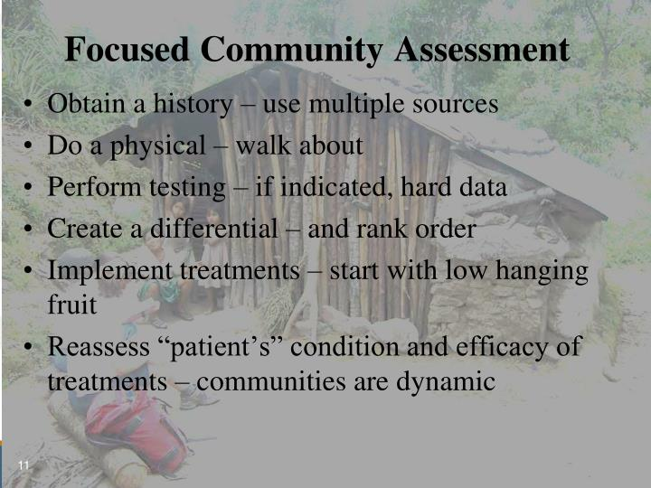 Focused Community Assessment