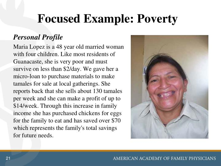 Focused Example: Poverty