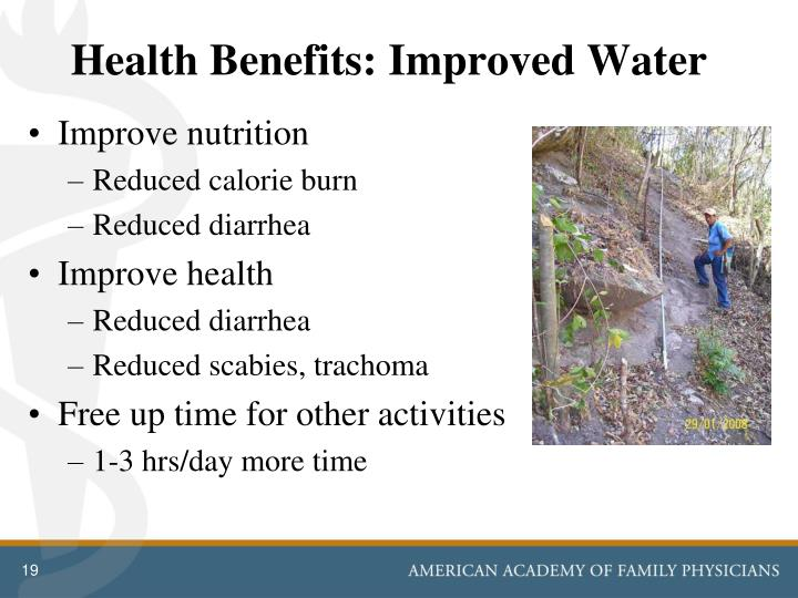 Health Benefits: Improved Water
