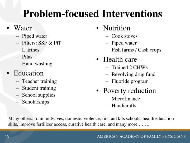 Problem-focused Interventions
