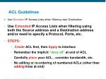 acl guidelines