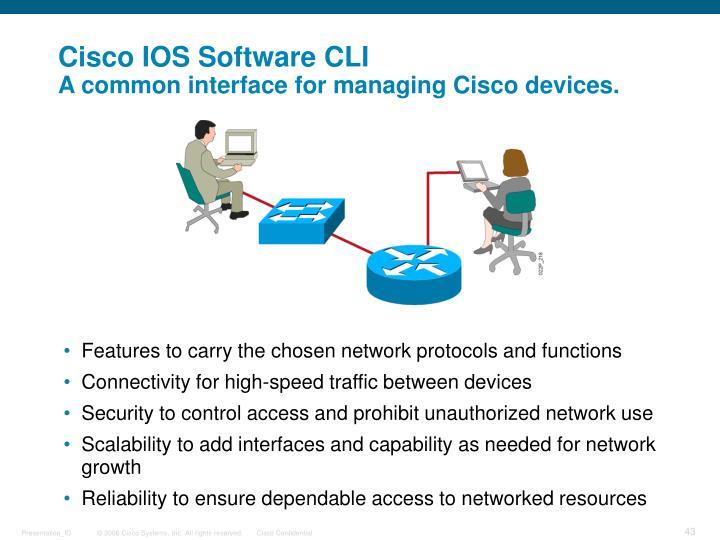 Cisco IOS Software CLI