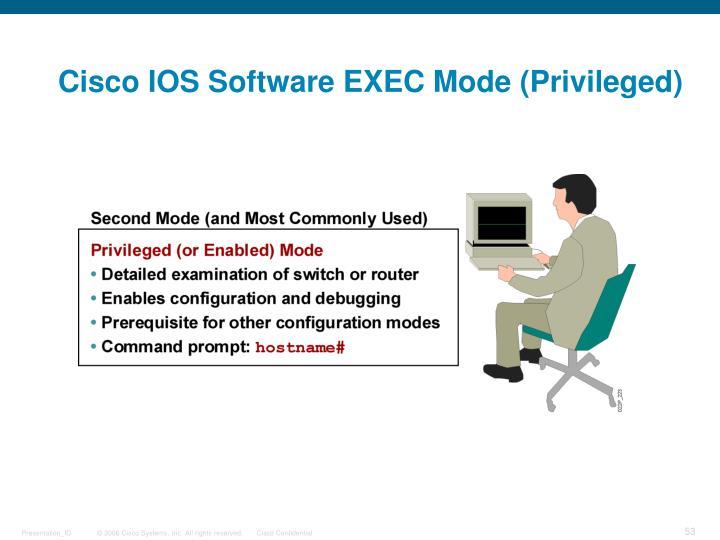 Cisco IOS Software EXEC Mode (Privileged)