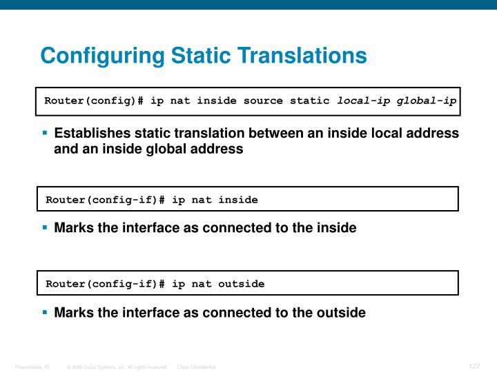 Configuring Static Translations