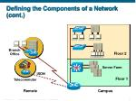 defining the components of a network cont
