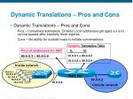 dynamic translations pros and cons
