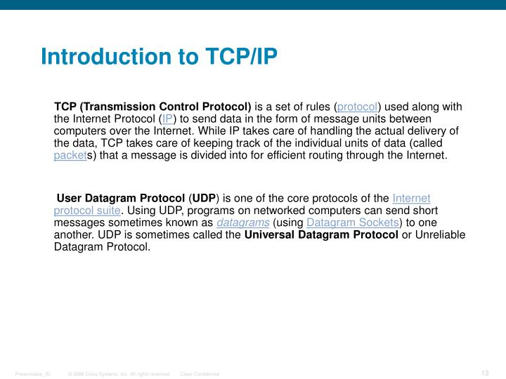 Introduction to TCP