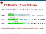 ip addressing private addresses