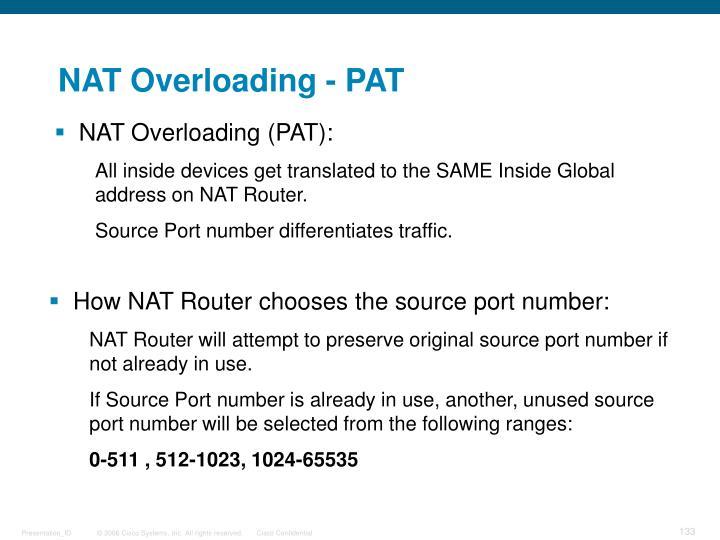 NAT Overloading - PAT