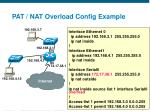 pat nat overload config example