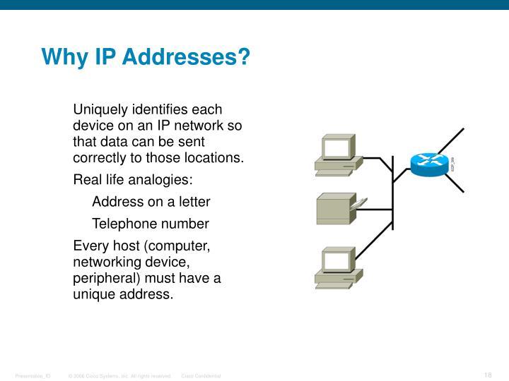 Why IP Addresses?