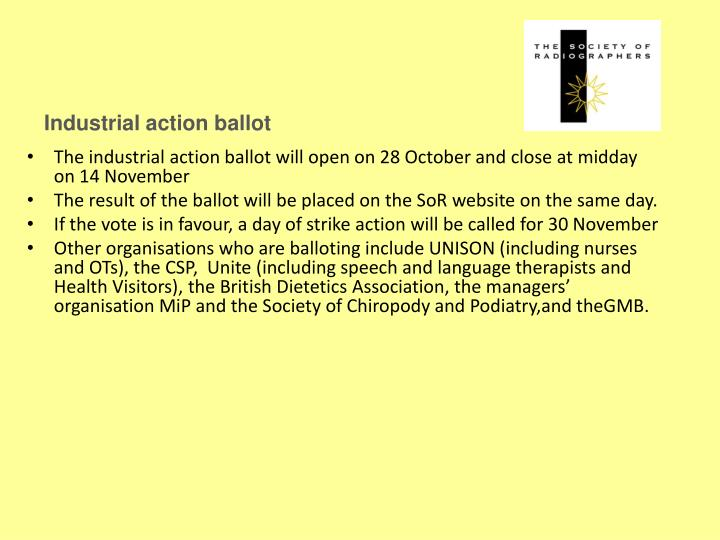 Industrial action ballot