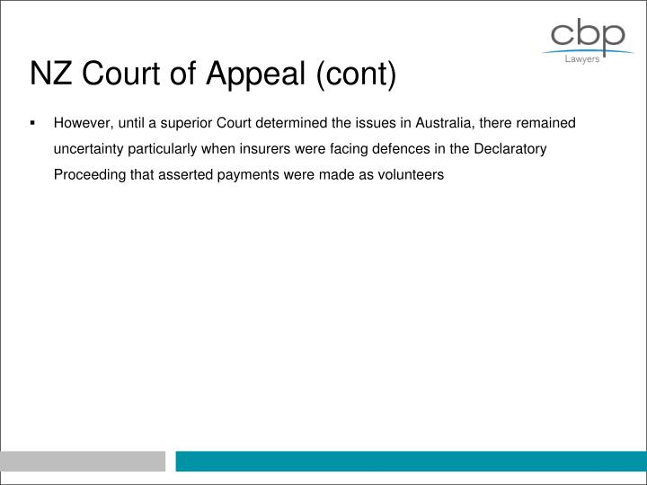 NZ Court of Appeal (cont)