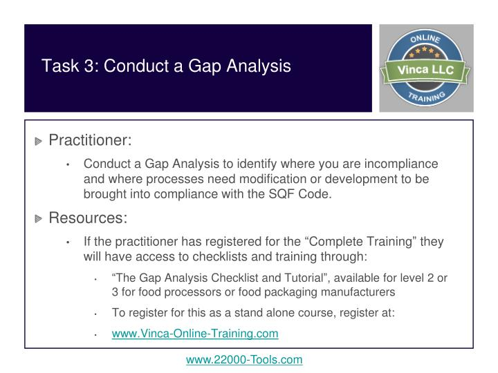 Task 3: Conduct a Gap Analysis