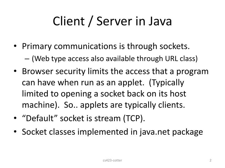 Client server in java