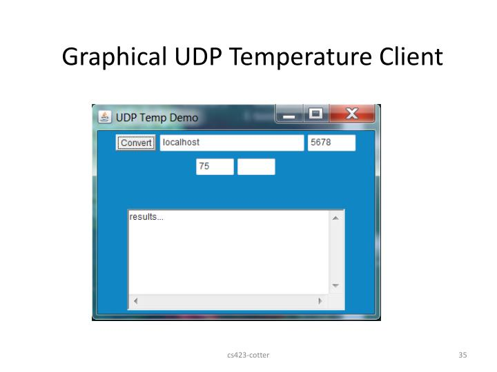Graphical UDP Temperature Client