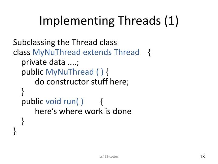 Implementing Threads (1)