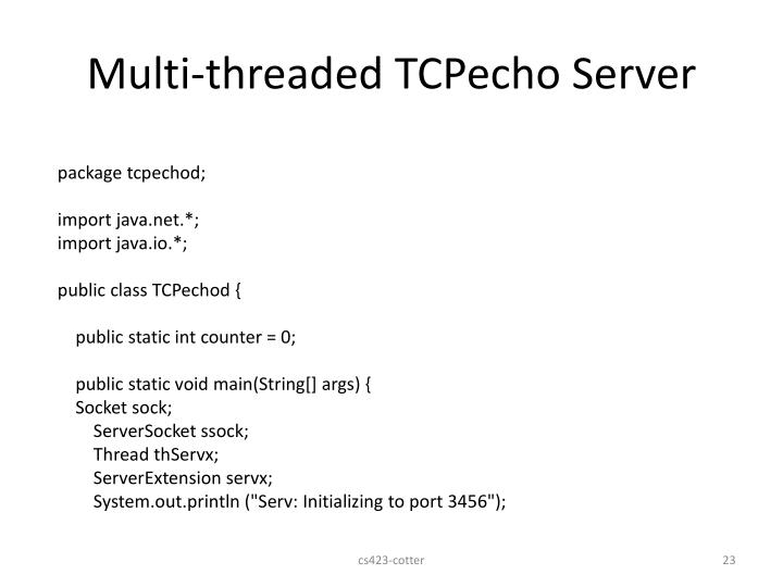 Multi-threaded TCPecho Server