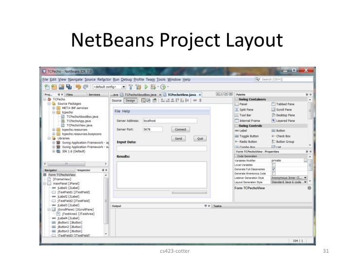 NetBeans Project Layout