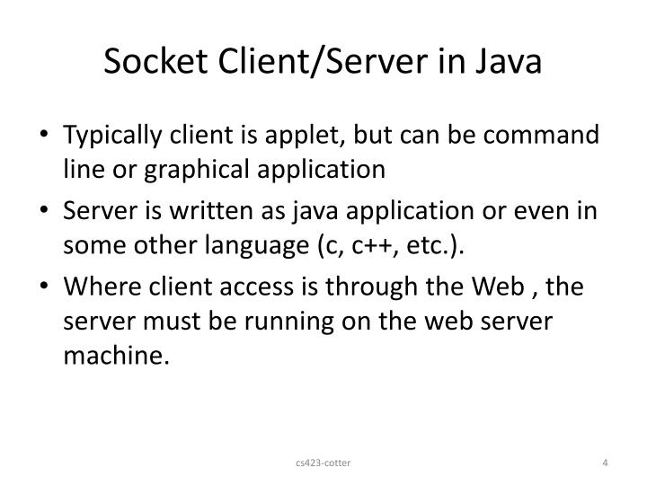Socket Client/Server in Java