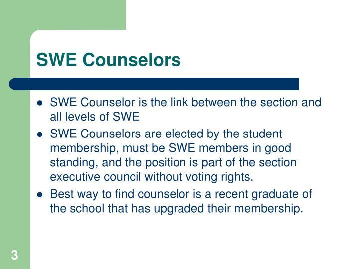 SWE Counselors