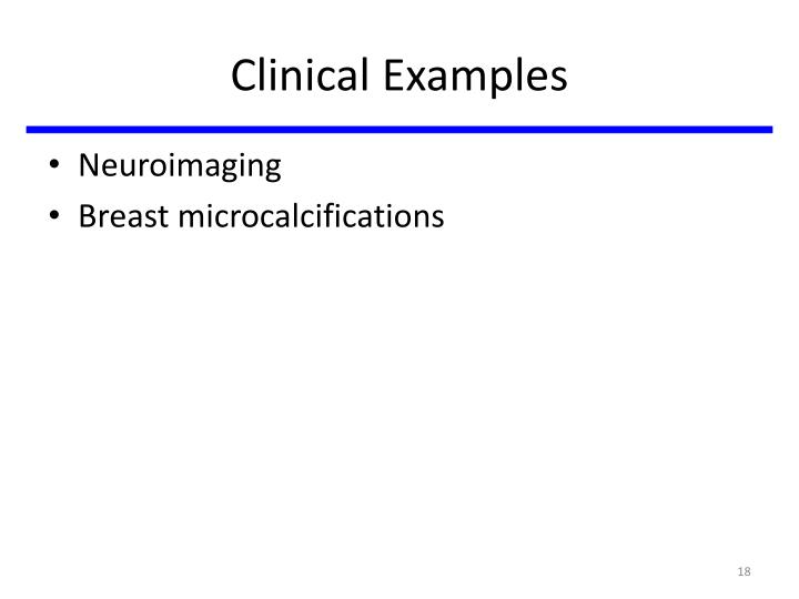 Clinical Examples