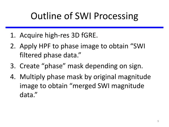 Outline of SWI Processing
